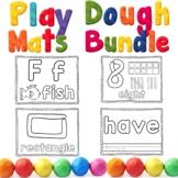 Play Dough Mats BUNDLE | Alphabet | Numbers | 2D Shapes |