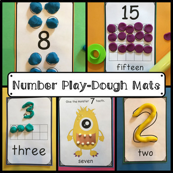 Play Dough Mats Early Learning BUNDLE: Letters, Numbers, and Sight Words