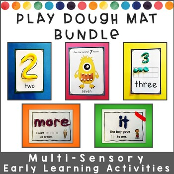 Playdough Mats BUNDLE : Letters, Numbers, and Sight Words