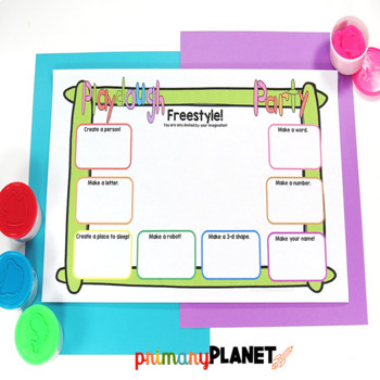 Play Dough Mats for STEM STEAM Maker Space Morning Tubs