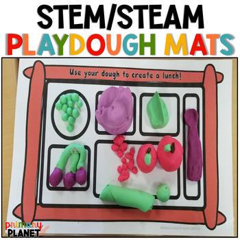 Play Dough Mats for STEM STEAM Maker Space Morning Tubs