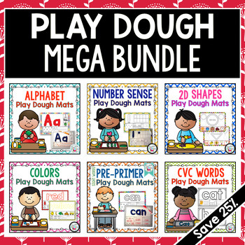 Play Dough Mats Kindergarten Basic Skills MEGA BUNDLE - Year Long