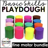 Playdough Mats Kindergarten Year Long Bundle