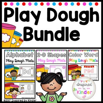 Play Dough Mats Bundle (Letters, Numbers, Colors, Shapes)