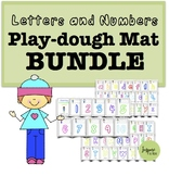 Play Dough Mats Bundle (Uppercase, Lowercase, and Numbers 1-10)