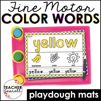 Colors Play Dough Mats