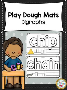 Digraphs Play Dough Mats