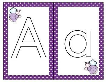 Alphabet Play Dough Mats - English and Spanish