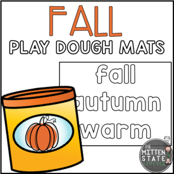 Play Dough Mats: FALL