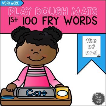 Play Dough Mats {First 100 FRY WORDS}