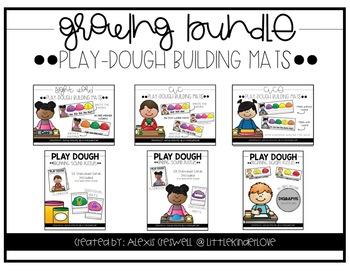 Play Dough Mats Growing Bundle