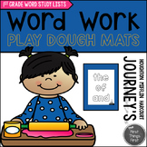 Play Dough Mats {JOURNEY'S FIRST GRADE WORD STUDY}