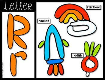 Play Dough Mats --- Letters, Beginning Sounds, Numbers 1-10 and Shapes