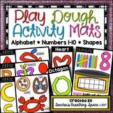 Play Dough Mats --- Letters, Beginning Sounds, Numbers 1-1