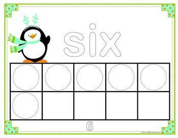 Ten Frame Play-Dough Mats Numbers 1-10