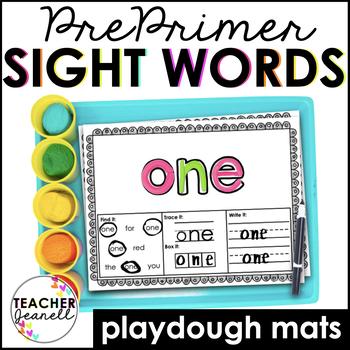 Playdough Sight Word Mats Pre-Primer