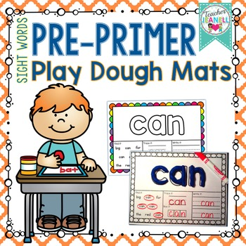 Dolch Sight Words Play Dough Mats (Pre-Primer List)