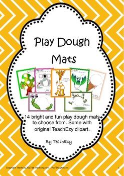 Play Dough Mats Preschool/Kindergarten