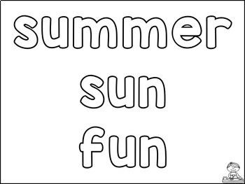 Play Dough Mats: SUMMER