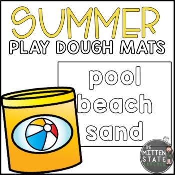 Play Dough Mats {SUMMER WORDS}