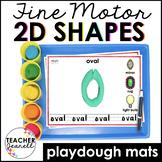 2D Shapes Play Dough Mats