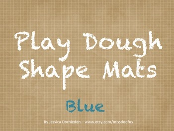 Play Dough Mats Shapes Blue