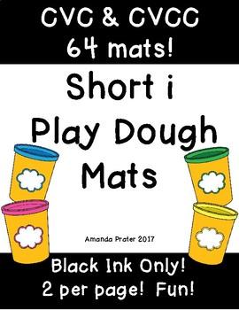 Play Dough Mats: Short i CVC and CVCC Words
