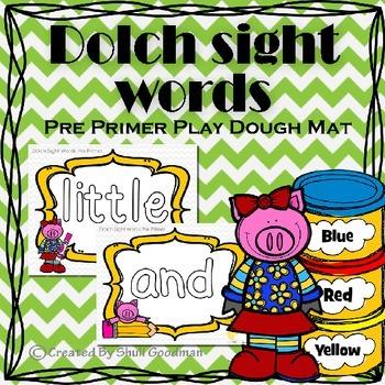 Play Dough Mats Sight Words - Pre Primer