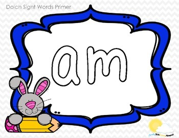 Play Dough Mats Sight Words - Primer