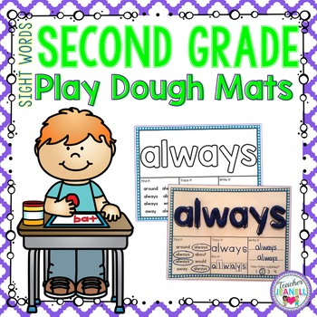 Play Dough Sight Word Mats - (Second Grade List)