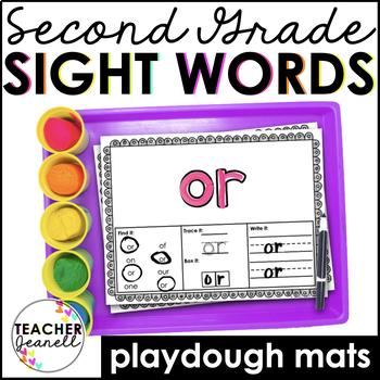 Sight Words Play Dough Mats -  (Second Grade List)