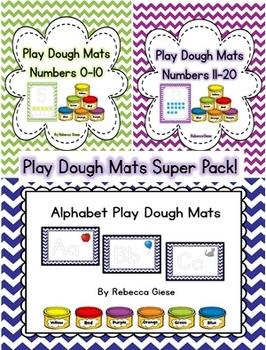 Play Dough Mats Super Pack