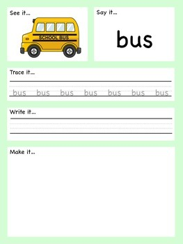 Play Dough Mats - Transport  - Early Spelling