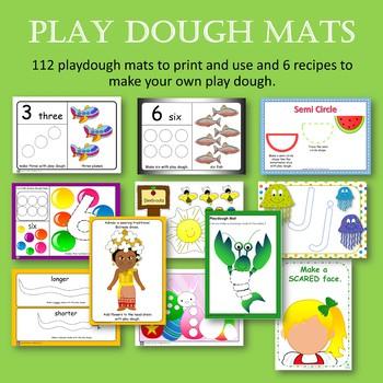 Play Dough Mats Variety