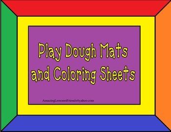 Play Dough Mats and Coloring Sheets