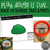 Play Dough Mats and Tags {First Day of School Activity}
