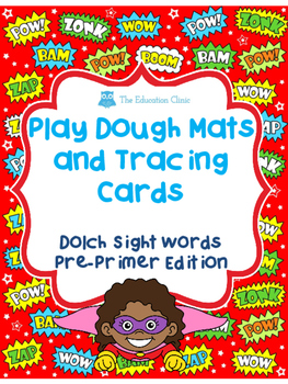 Play Dough Mats and Tracing Cards For Pre Primer Dolch Words