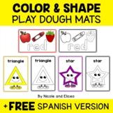Playdough Mats Colors and Shapes