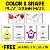 Play Dough Mats Colors and Shapes