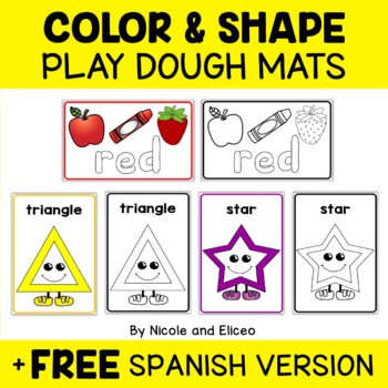 Color and Shape Play Dough Mats