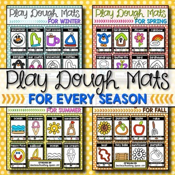 Play Dough Mats for Every Season ***BUNDLE***