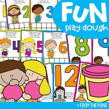 Play Dough Mats for Numbers to 20