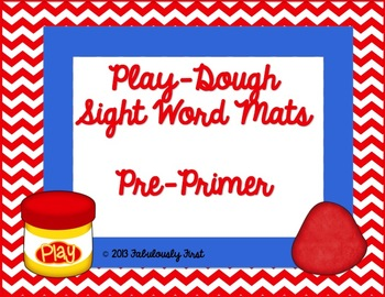 Play Dough Mats with Pre-Primer Sight Words