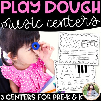 Play Dough Music Centers: 3 Play Dough Centers for Pre-K and K Music