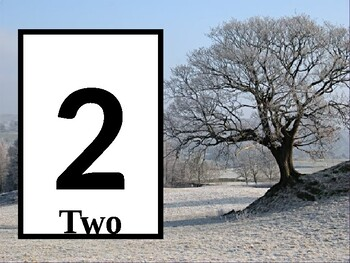 Play Dough Number Card: Winter Tree