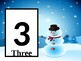 Play Dough Number Cards: Snowman