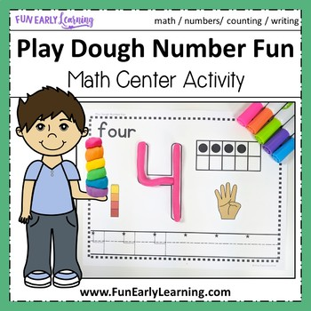 Play Dough Number Fun - Hands-on Math Activity