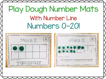 Play Dough Number Mats 0-20 One to One Counting