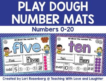 Play Dough Number Mats {0-20}