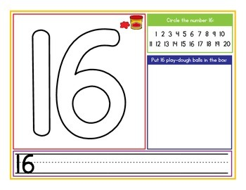 Play-Dough Number Mats 1-20